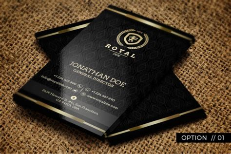 30 Hotel Business Card Templates Free Psd Design Ideas Black And Gold Business Card Template