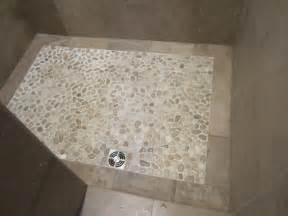 Pebble Shower Floor Contemporary Bathroom Chicago Pebble Shower Floor
