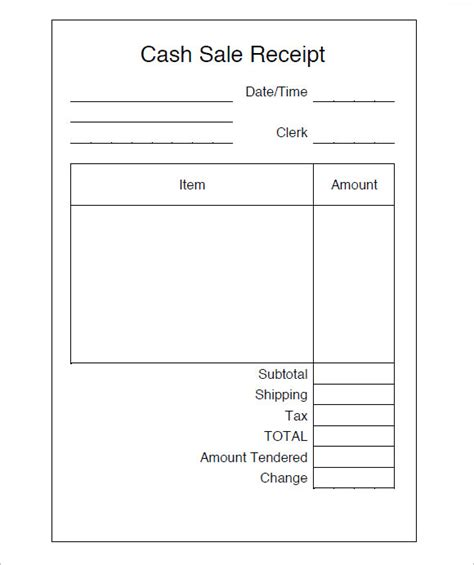 sale receipt template 8 sales receipt templates free sles exles format