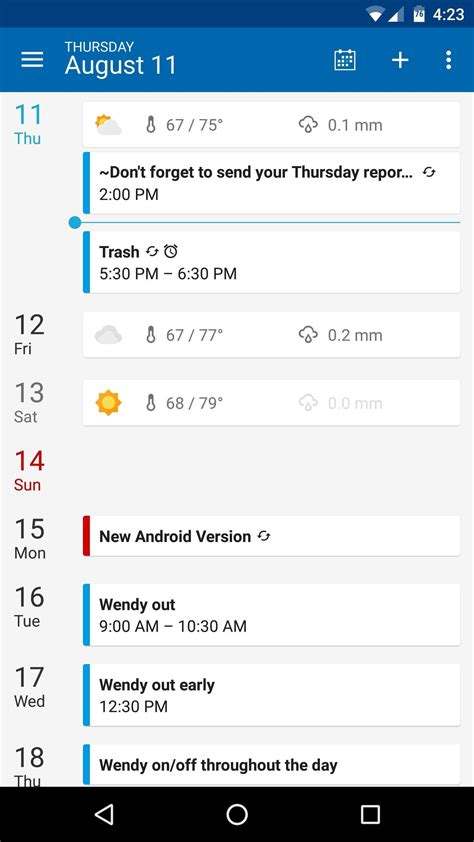 best calendar app for android the best free calendar apps for android 171 android gadget hacks