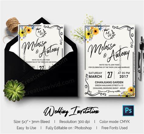Wedding Invitation Bandung by Free Wedding Invitation Mockup Psd Wedding Invitation Ideas