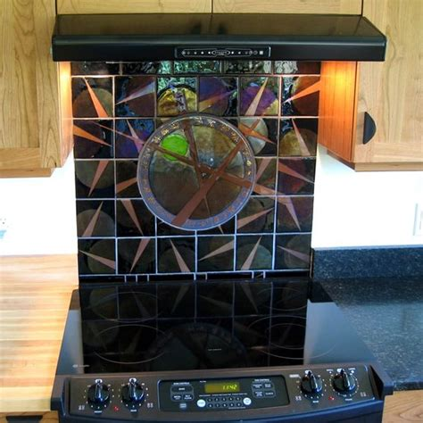crafted tile backsplash fused glass by janet