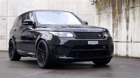 range rover sport tuning schwarzer range rover sport svr auf adv 1 wheels by