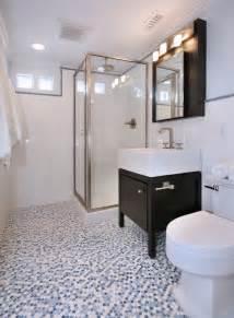 penny tiles:  penny tiles glass shower rain shower head subway tiles backsplash