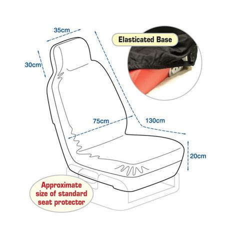 seat size single heavy duty front car seat protector from np autoparts co uk