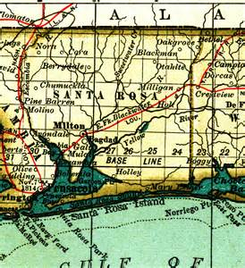 map of santa rosa florida santa rosa county 1897