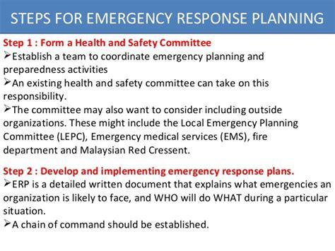 Osha Emergency Response Plan Wastewater Emergency Response Plan Template