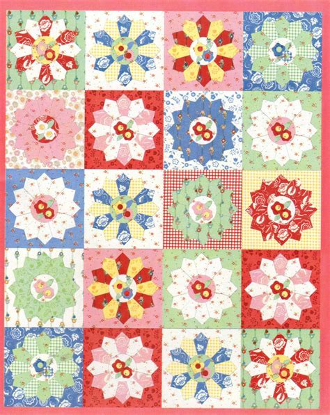 Craftdrawer Crafts Free Quilt Pattern Patchwork Throw - dresden plate baby quilt pattern dresden plate crocheted
