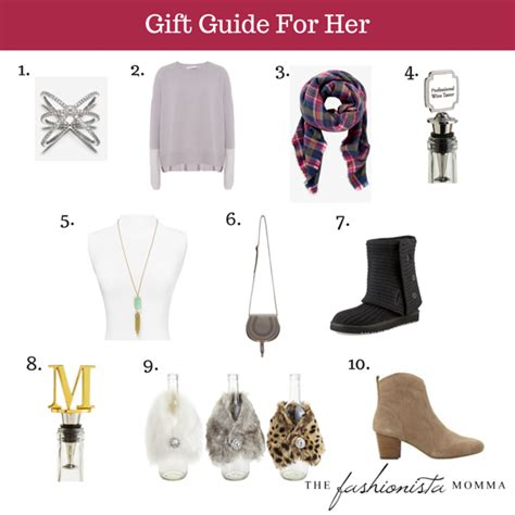 guidelines on choosing gifts for her gift guide for her the fashionista momma