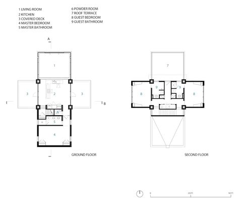 Ground & Second Floor Plans, Guest House in Wilmington