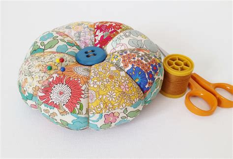 Patchwork Pincushion Pattern - diy pincushion tutorial with free pattern mad for fabric