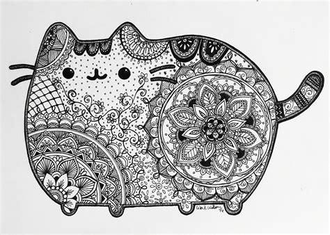 mandalas con animales 7 p pusheen artistico pusheen pinterest pusheen