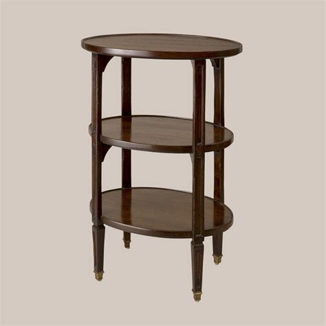 etagere oval 6077 o 3 tier oval etagere small size paul ferrante