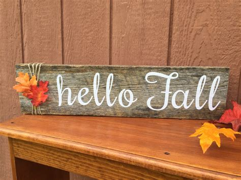 costumes diy crafts ideas signs customizable hello fall wood sign by thehopsonshop on etsy