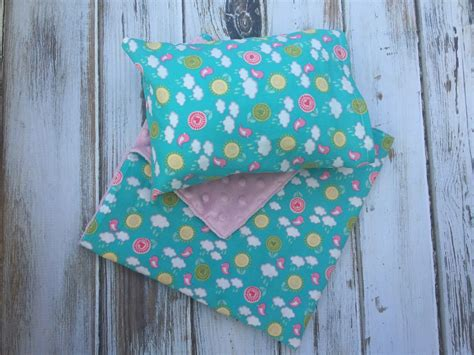 doll pillow and blanket set doll bedding by babybirdscloset