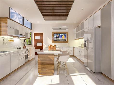 Free 3D Models   KITCHEN   two tone kitchen   by jonas banzon