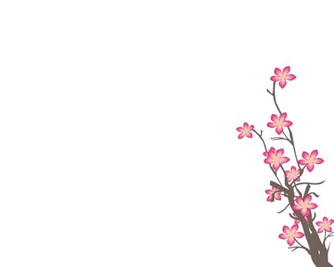 Sakura Flower Png By Hanabell1 On Deviantart Drawing Colorful Flower Backgrounds For Powerpoint Templates