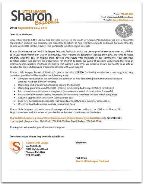 Fundraising Update Letter fundraiser by chris koss league baseball