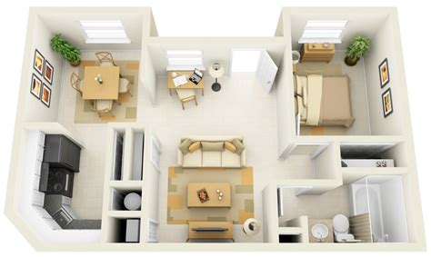 1 Bedroom Apartment House Plans One Bedroom Apartment Design
