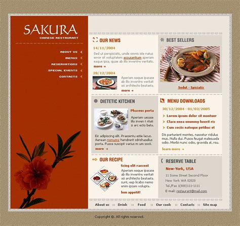 chinese restaurant flash template 5245