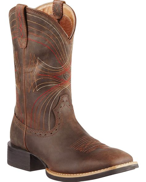 ariat toe boots ariat sport cowboy boots square toe country outfitter