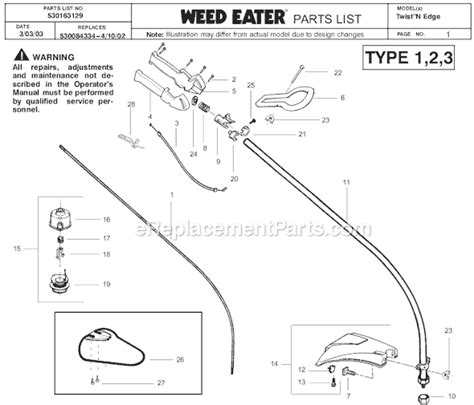 weed eater twist n edge manual stihl weed eater parts diagram best free home design