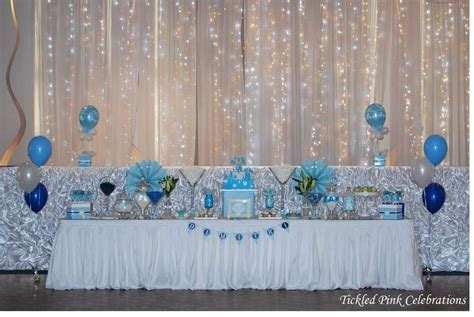Blue & White Christening Baptism Party Ideas   Photo 1 of 17   Catch My Party