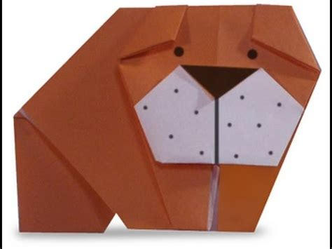 Origami Bulldog - how to make origami bulldog