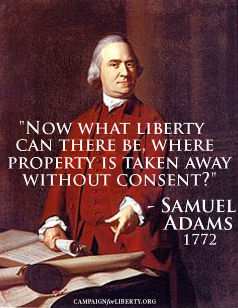 Now what Liberty can there be, where property is taken ...