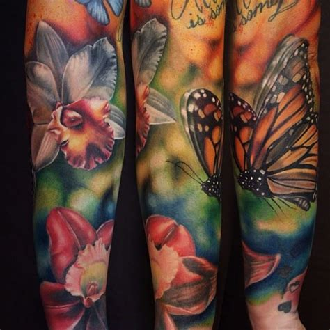butterfly tattoo sleeve designs 35 realistic floral tattoos