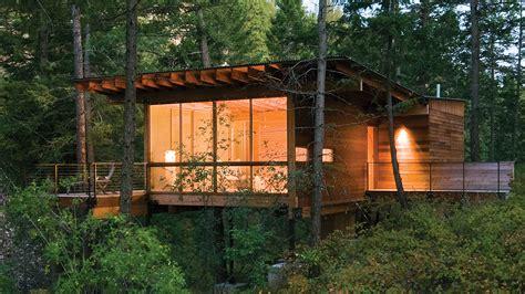 Flathead Lake Cing Cabins by The Sensible Modern Cabin Build