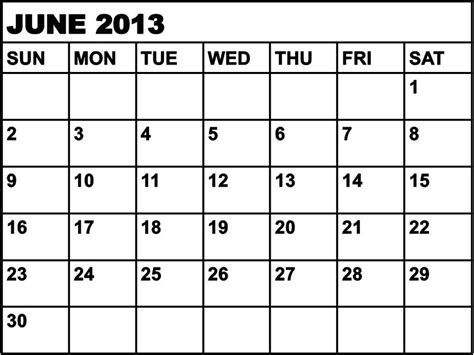 June 2014 Calendar Template by 9 Best Images Of June 2013 Calendar Printable Template