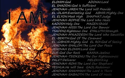god names the names of god powerful message god is the nature of his one