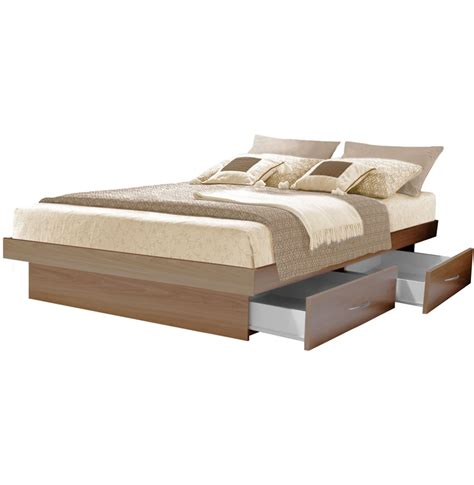 King Platform Bed With Storage Drawers by King Platform Bed With 4 Drawers Contempo Space
