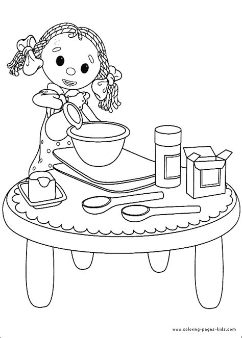 free coloring pages of baking cookies