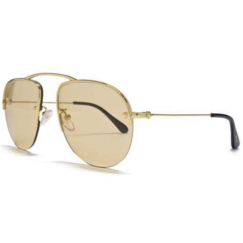 light brown aviator sunglasses prada gold aviator sunglasses with light brown lens pr
