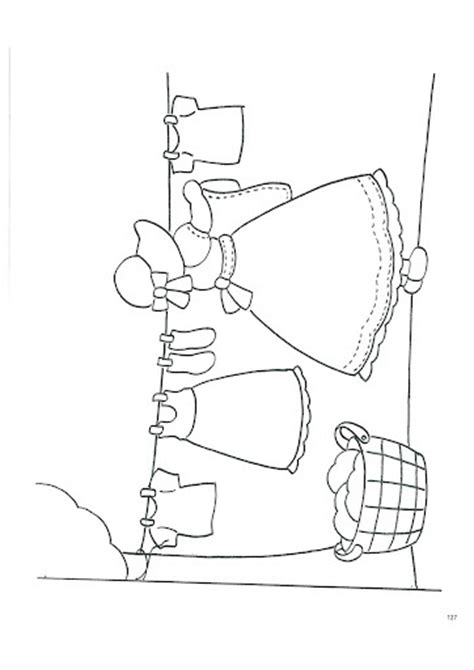 coloring pages sag hanging clothes