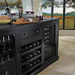 Refrigerated Wine Credenza Siena Wine Credenza Nero With Two 28 Bottle Touchscreen