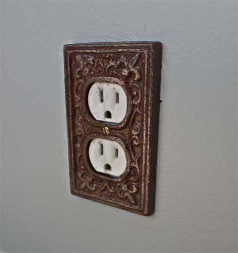 decorative outlet covers brown decorative electrical outlet plate in cover