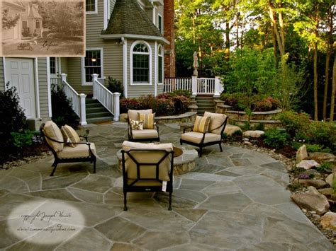 houzz backyard patio stone patio fire pit traditional landscape newark