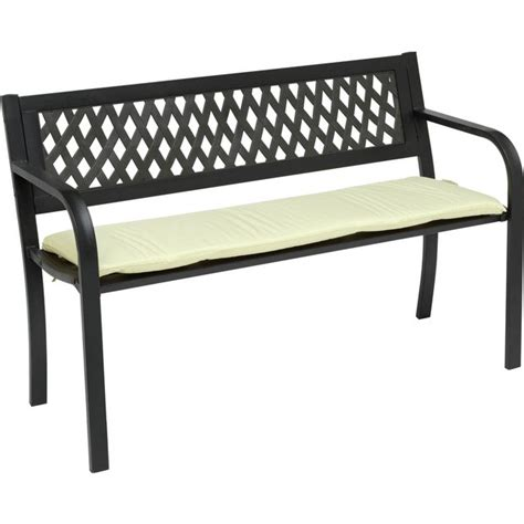 bench watches argos buy home 4ft steel bench with cushion at argos co uk