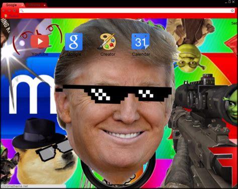 google themes mlg mlg donald trump chrome theme themebeta