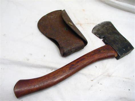 vintage plumb boy scout hatchet cing axe wood tool w
