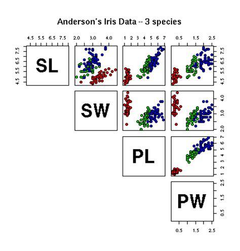 Pch Data - plotting the iris data