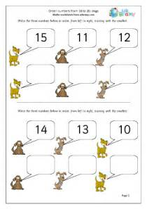 order numbers up to 20 dogs ordering numbers maths