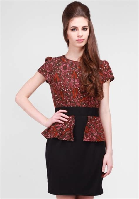 Baju Renang Wanita Lengan Pendek baju atasan batik wanita lengan pendek 4 baju batik atasan wanita terbaru 2015