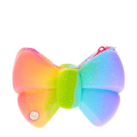 jojo siwa rainbow bow jelly coin purse s