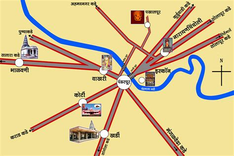 road map from mapusa to pandharpur vitthal rukmini mandir