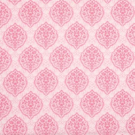 pink pattern fabric light pink fabric off white pink flower ornament design by