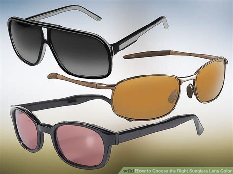 sunglass lens colors 3 ways to choose the right sunglass lens color wikihow